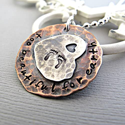 amazon com sterling heart and copper sympathy gift memorial gift