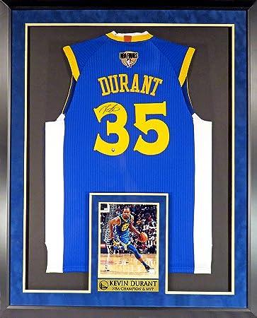 san francisco abac9 fea55 Kevin Durant Autographed Blue Jersey w/2018 NBA Finals Patch ...