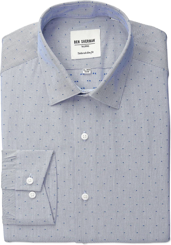 Ben Sherman - Camisa de vestir para hombre - Azul - 42 cm Cuello 81 cm- 84 cm Manga: Amazon.es: Ropa y accesorios