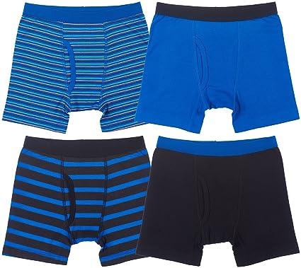2aad2ad53d13 Amazon.com: Trimfit Boys Cotton/Spandex Boxer Briefs (Pack of 4 ...