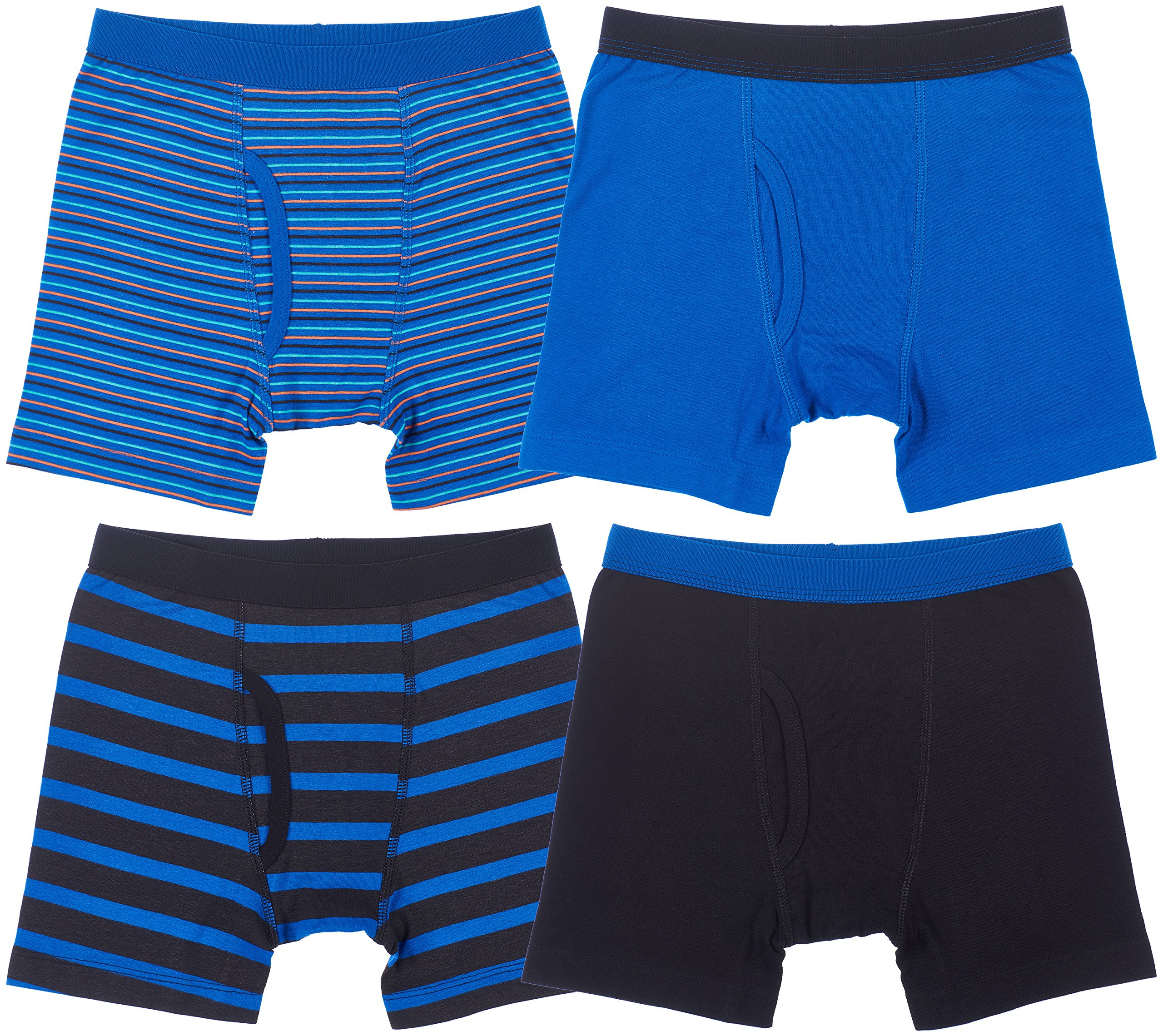 Trimfit 4-Pack Boys Boxer Briefs (Pack of 4) S (4-6)