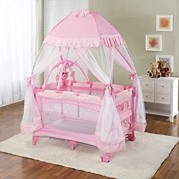 Big Oshi Portable Playard with Mosquito Mesh Net Travel Ready with Carrycase Bag - Pink & Amazon.com : Big Oshi Portable Playard with Mosquito Mesh Net ...
