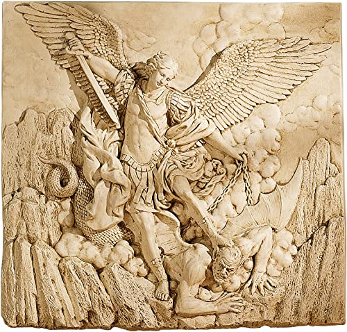 Design Toscano NG33581 St. Michael the Archangel Sculptural Wall Frieze