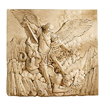 Amazon.com: Design Toscano St. Michael the Archangel Sculptural Wall ...