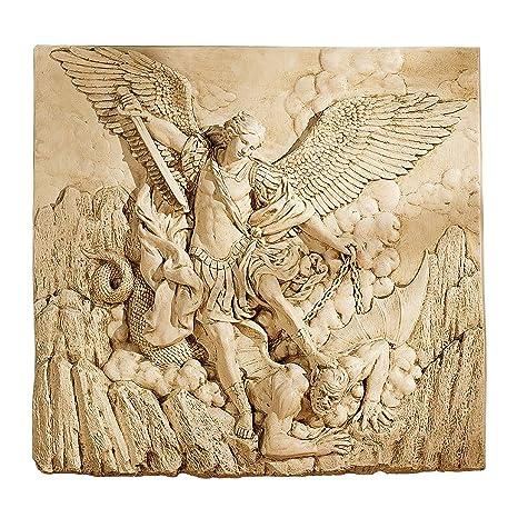 Amazon.com: Design Toscano St. Michael the Archangel Sculptural Wall ...