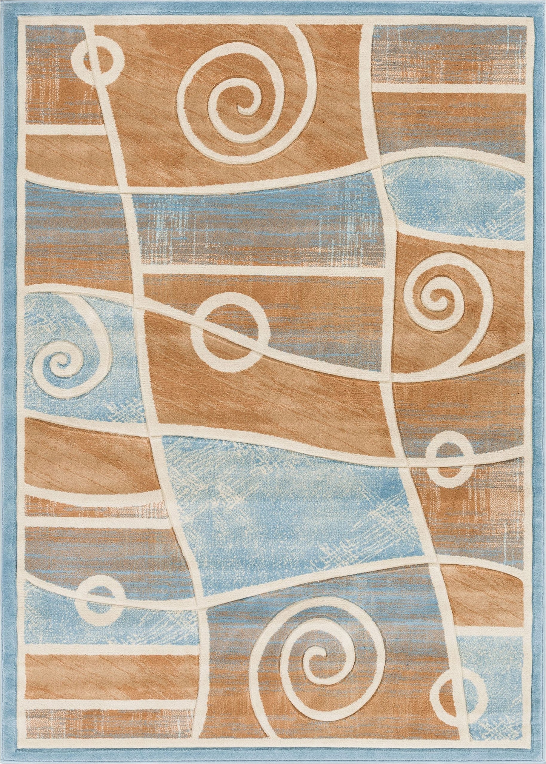 Well Woven BK-16-5 Bingo Dulcet Modern Area Rug, 5'3'' x 7'3'', Blue