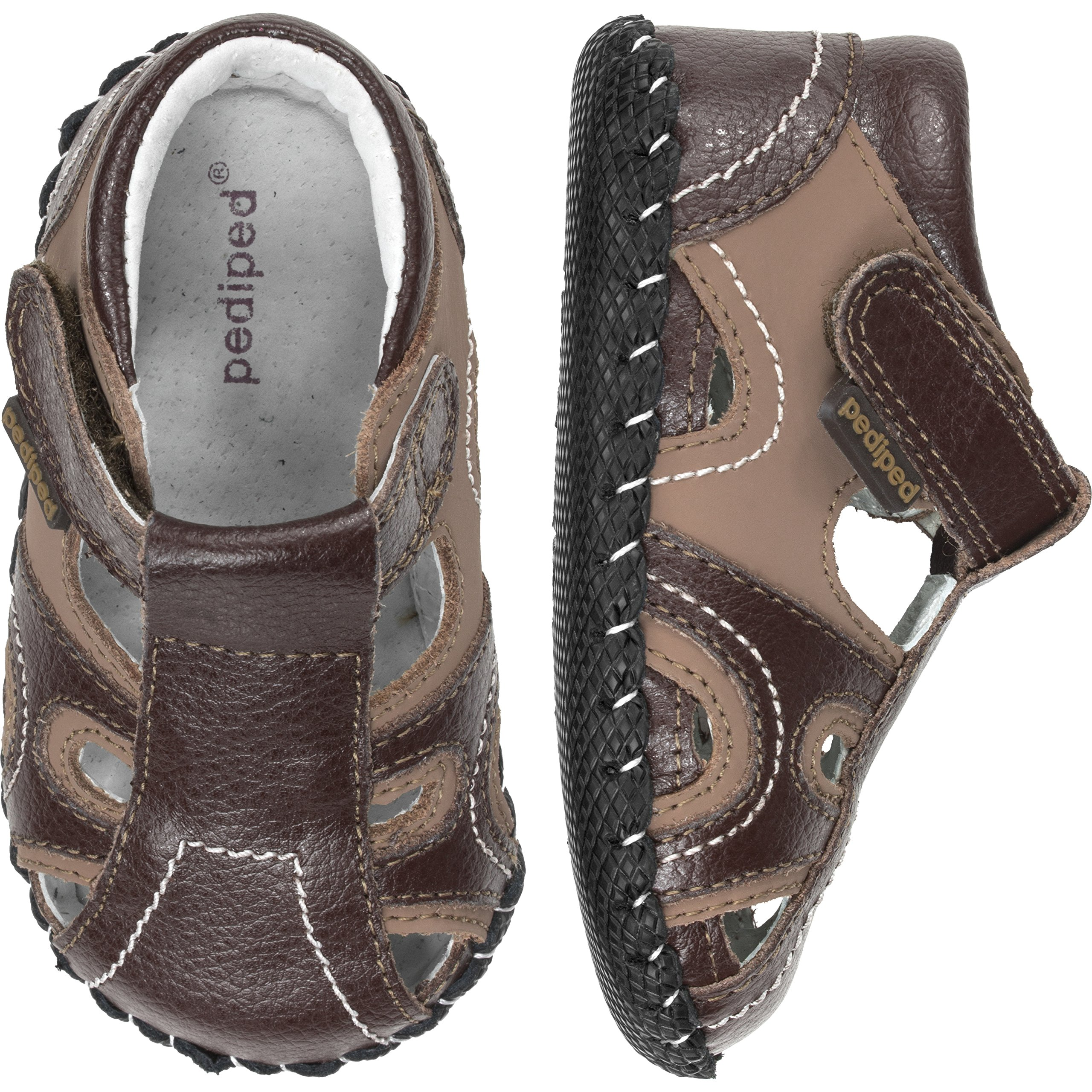 pediped Brody Originals Fisherman Sandal (Infant/Toddler),Brown Tan,Large (18-24 Months) by pediped