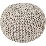 REDEARTH Round Pouf Ottoman -Poof Pouffe Accent Chair Circular Seat Footrest for Living Room, Bedroom, Nursery, kidsroom…