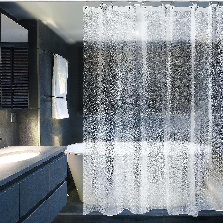 Fansu Rideau de Douche Lavable R/ésistant /à leau Anti-moisissure 3D Imprim/é Polyester Rideaux de Salle de Bain Facile /à Nettoyer avec 12 Crochets D/écor /À Maison Plage 1,90x180cm