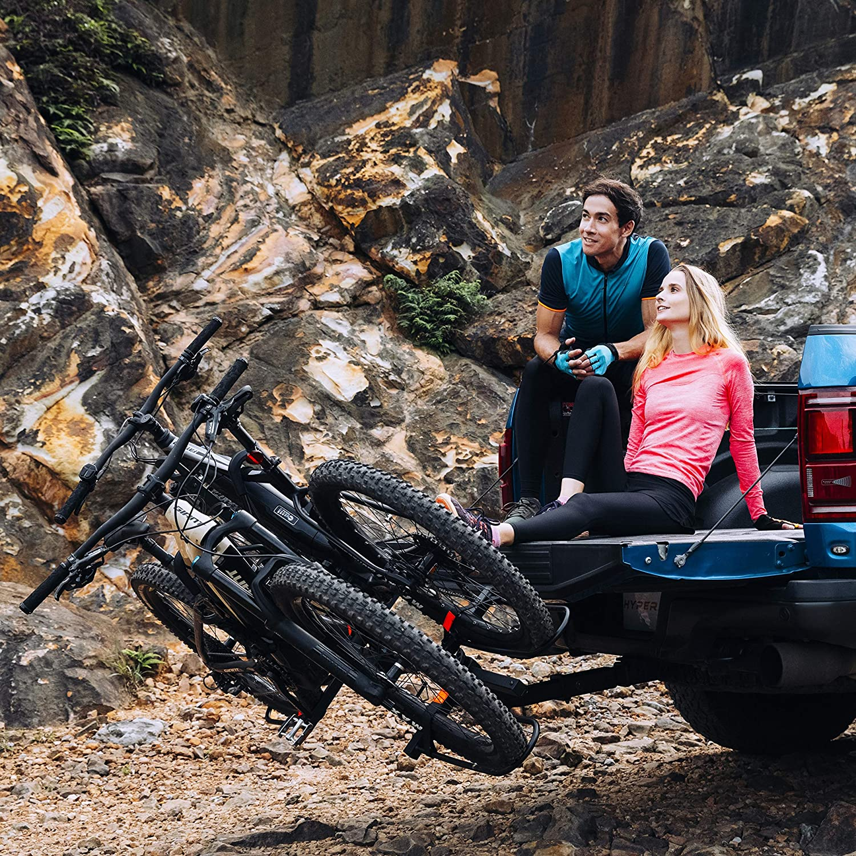 Hyperax 2 E Bike Hitch Mounted Bike Rack Carrier for 2-inch Receivers