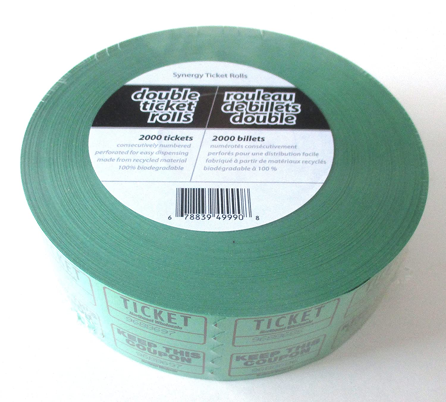 Admit One Tickets With Coupon 2000 Tickets Green Colour Canada Ticket Rolls