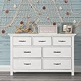 Evolur Belmar Double Dresser, Weathered White