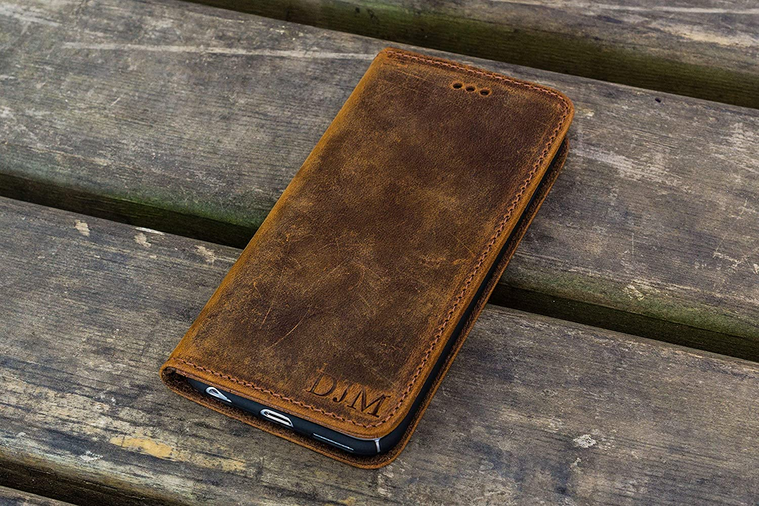Leather iPhone 7 Wallet Case - No.01