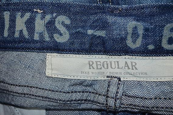 IKKS JEANS FEMME STRETCH - COUPE DROITE REGULAR - JEAN BLEU STONE USED - TAILLE  34 36 38 NEUF (W27)  Amazon.fr  Vêtements et accessoires c08aeaf202a6