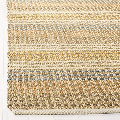 Safavieh Organica Collection ORG411A Hand-Knotted Multicolored Wool Area Rug 7'6″ x 9'6″