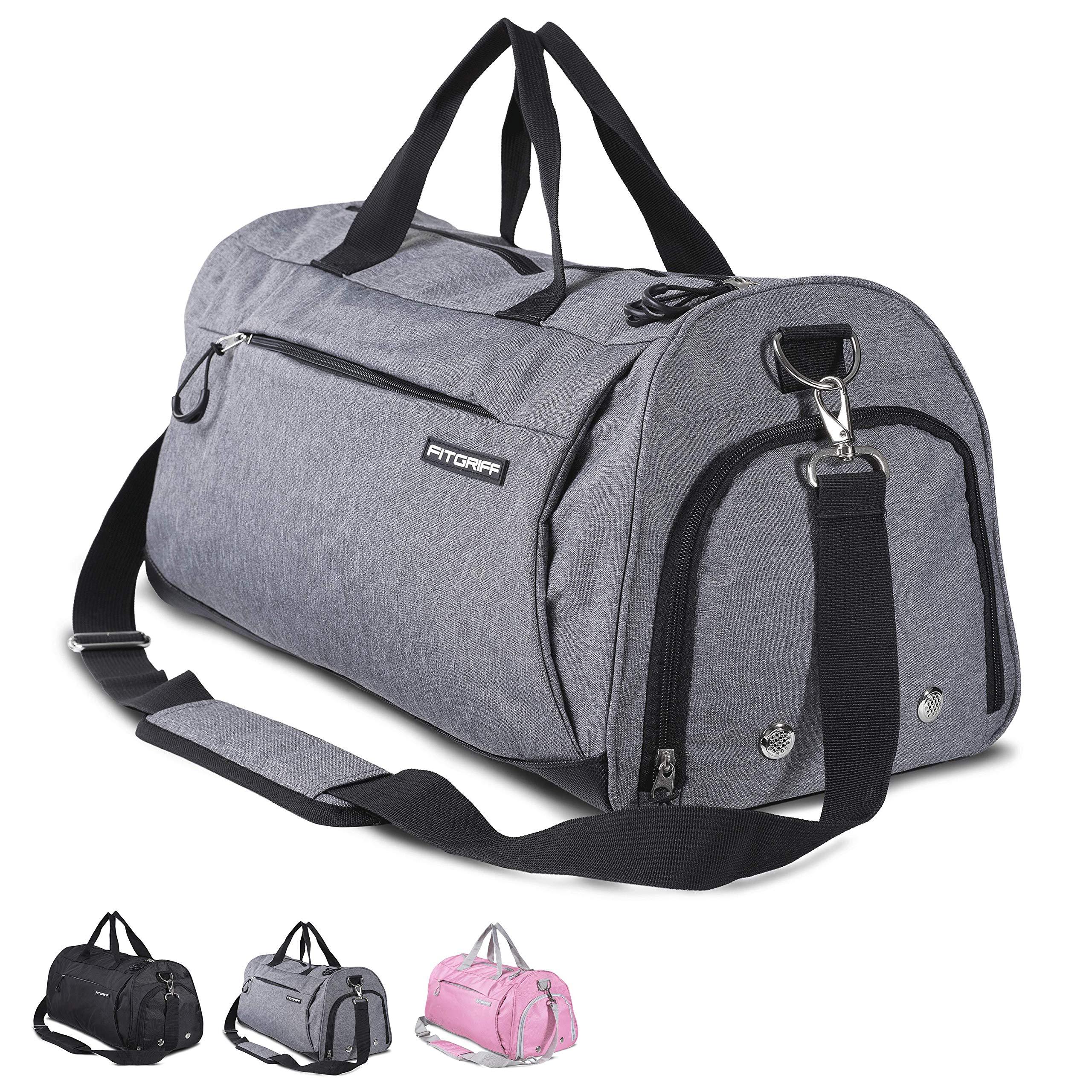 0d66c0351fcb4 Fitgriff Sporttasche - Fitnesstasche mit Schuhfach und Nassfach - Sport  Tasche für Frauen und Männer -