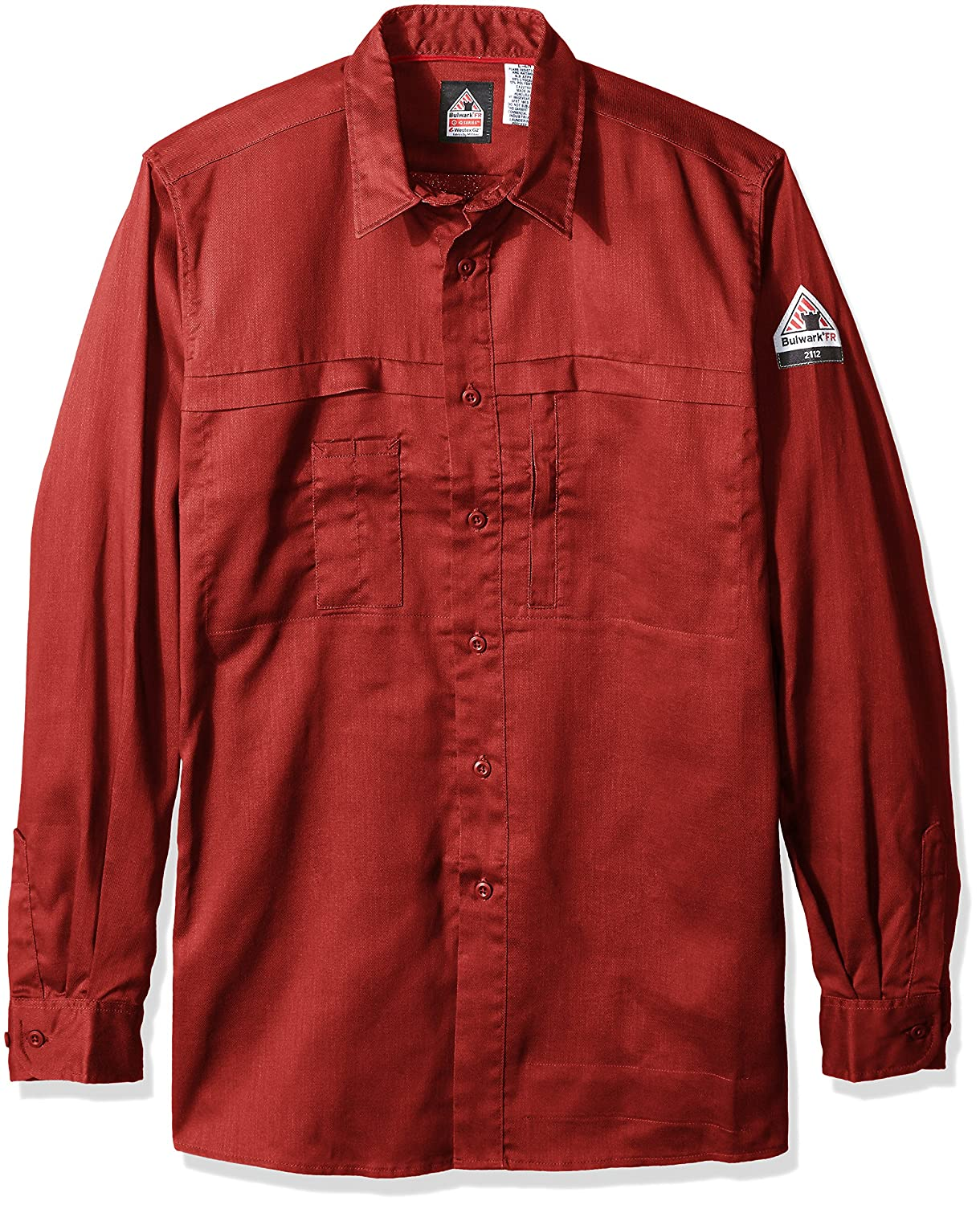 84cedd5972a Amazon.com  Bulwark Men s Iq Series Comfort Woven Concealed Pocket Shirt Big  and Tall  Clothing