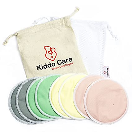 31b0b95367b69 BEST Washable Organic Bamboo Nursing Pads -8 PACK (4 pairs) Colored-  Reusable