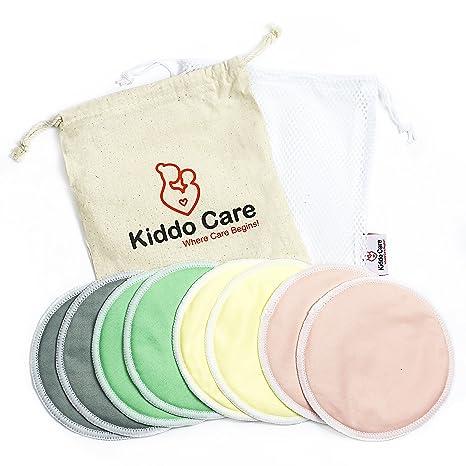 1 MEJORES almohadillas de lactancia de bambú orgánicas lavables -8 PAQUETE (4 pares