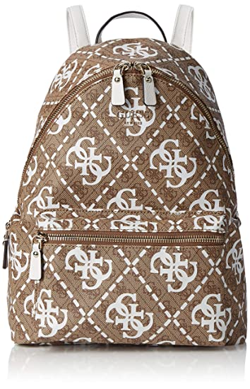 Guess Leeza Large Backpack, Women's Multicolour (White Multi