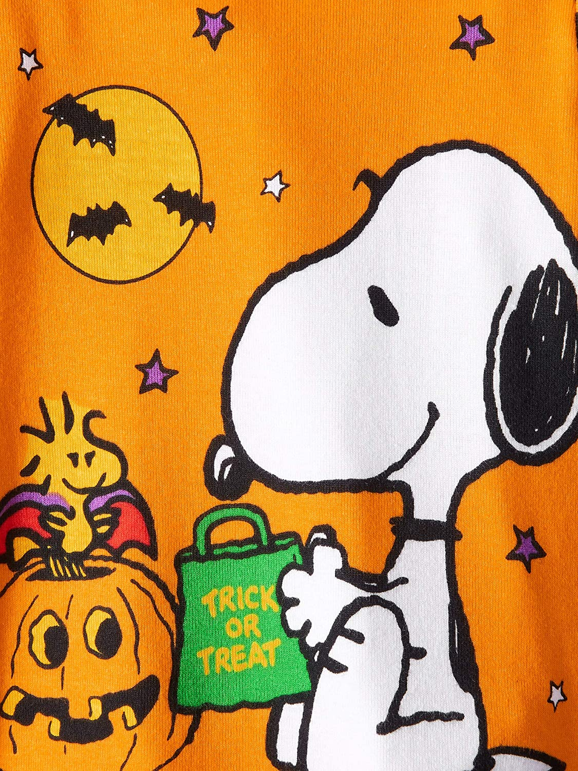 12 Months Peanuts Snoopy and Woodstock Trick or Treat Halloween 2 Piece Baby Boys Pajama Set