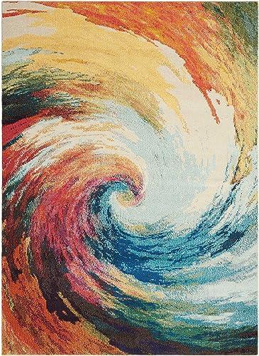Nourison Celestial Modern Bohemian Wave Multicolored Area Rug 7 feet 10 Inches