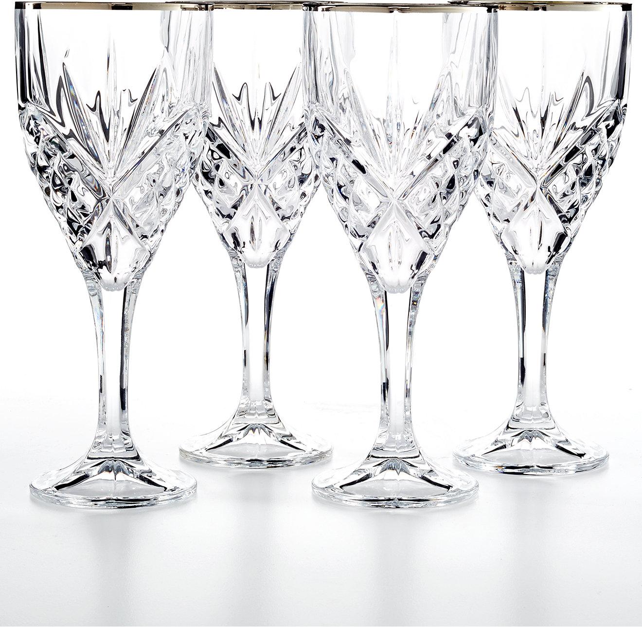 White apron macy's - Godinger Dublin Platinum Goblets Set Of 4 All Glassware Drinkware Dining