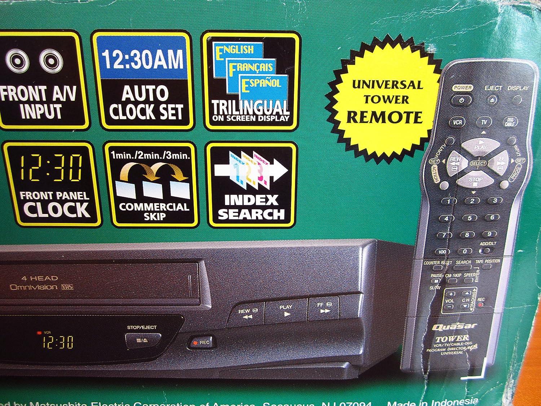 Amazon.com: Panasonic Quasar VHQ-40M Video Cassette Recorded Player ...