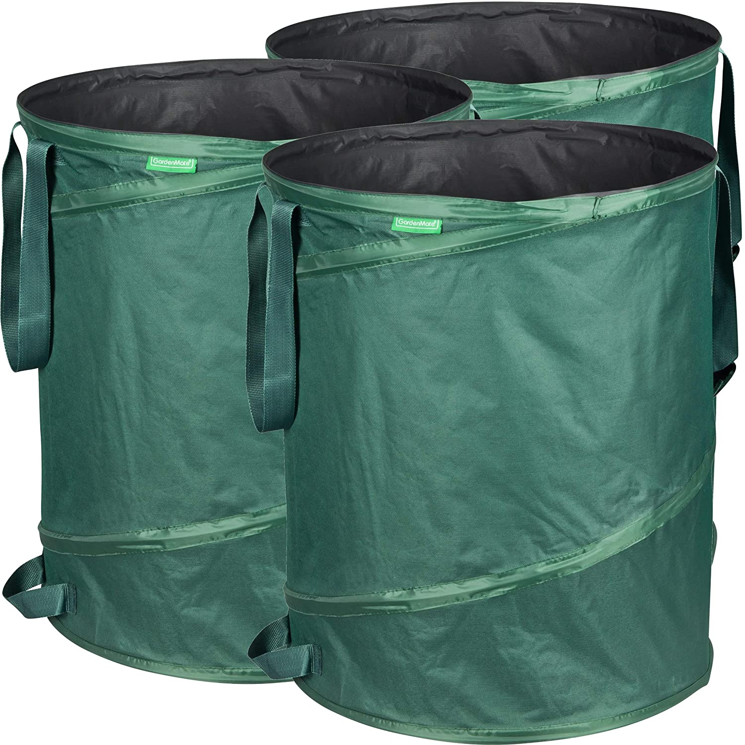 GardenMate pack of 3 x 160L pop-up garden waste bags made of 600D Oxford Polyester (H68 cm, D55 cm) GardenMate®