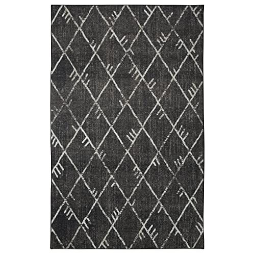 Mohawk Home Highland Precision Printed Prismatic Area Rug, 5 x8 , Black