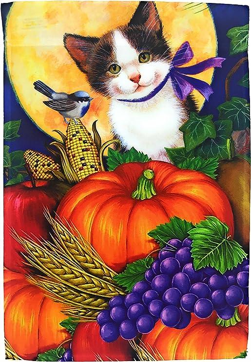 Adorable caída gato bandera de Jardín Patio Decoración; simpático ...