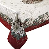 Benson Mills Christmas Noel Printed Tablecloth, size 60-inch-by-84-inch