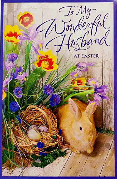 Amazon to my wonderful husband at easter romantic greeting to my wonderful husband at easter romantic greeting card quothow grateful i m4hsunfo