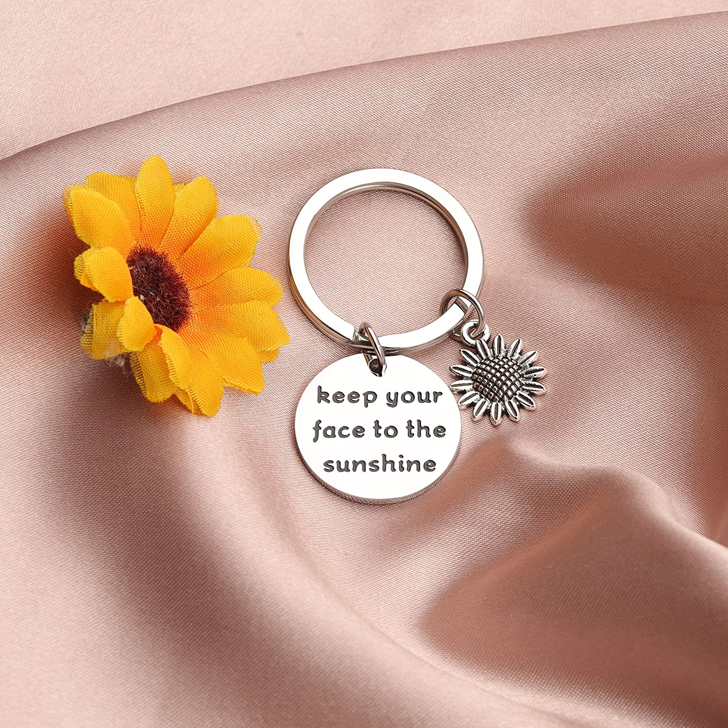 AKTAP Sunflower Charm Bracelet Inspirational Gift Keep Your Face to The Sunshine