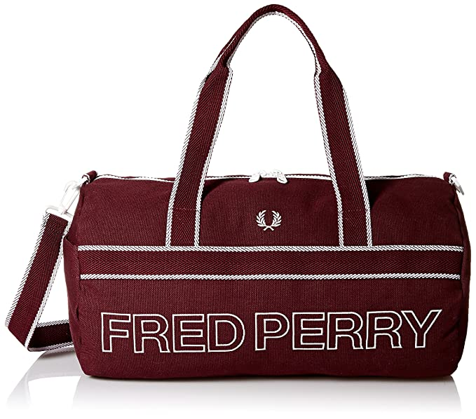 Sports Canvas Barrel Bag by Fred Perry  Amazon.co.uk  Shoes   Bags 4a575990732cf
