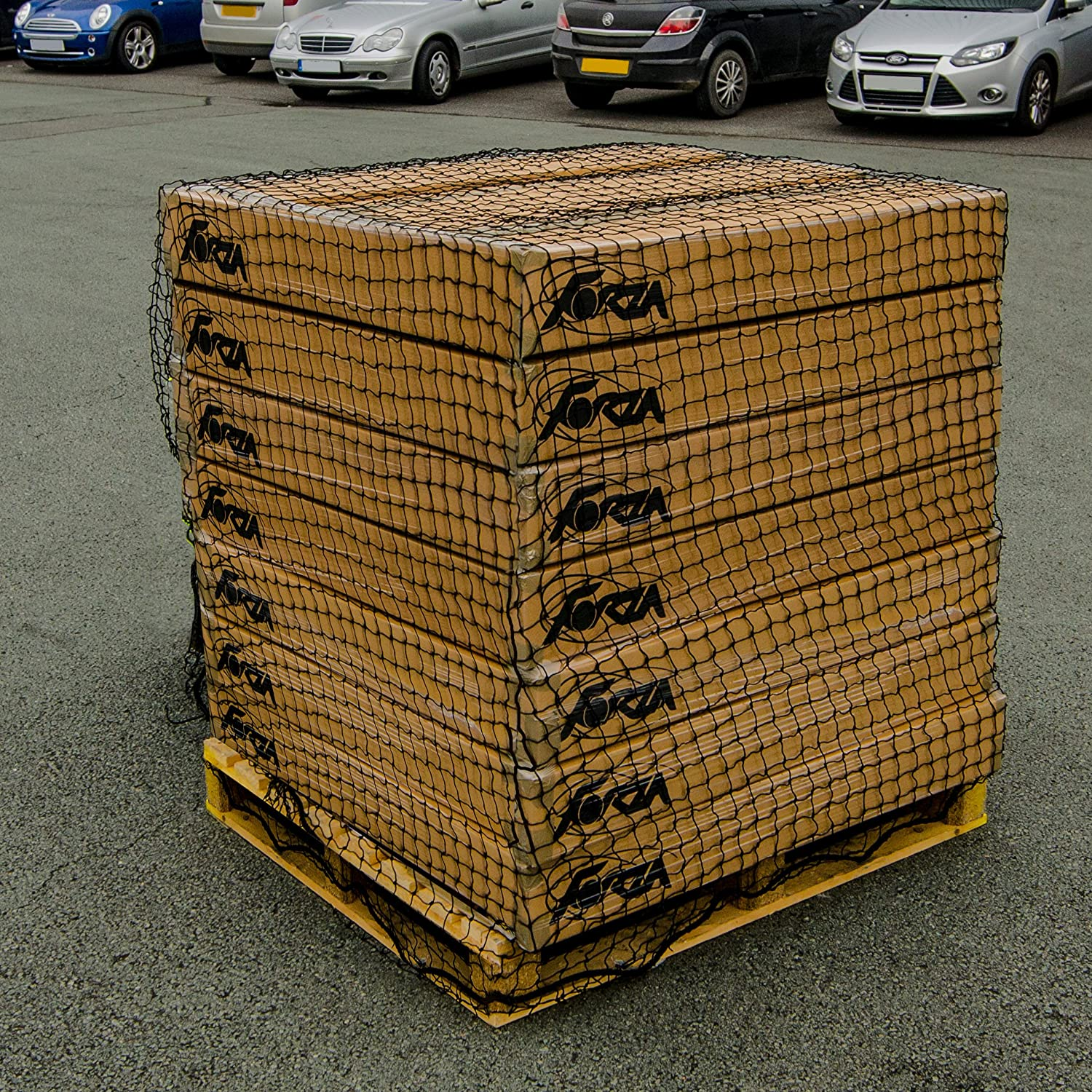 Heavy Duty Skip Net, The best cargo net for securing loads in trailers, skips and warehouses. [Net World Sports (12 x 10ft)