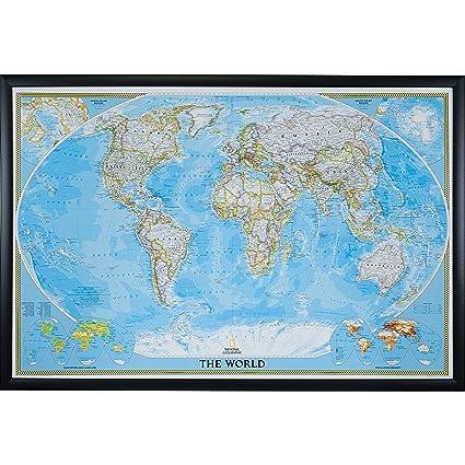 Amazon craig frames wayfarer classic world push pin travel map craig frames wayfarer classic world push pin travel map gallery black frame and pins gumiabroncs Choice Image