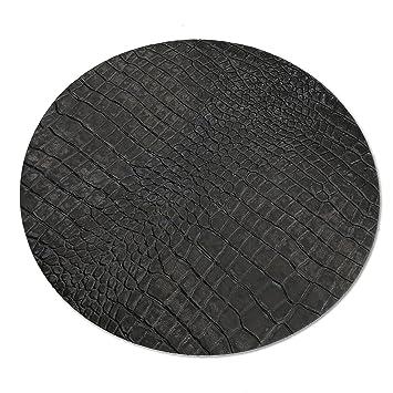 Xapron Handgefertigte Platzdeckchen aus Leder in der Farbe Schwarz Vier Stück