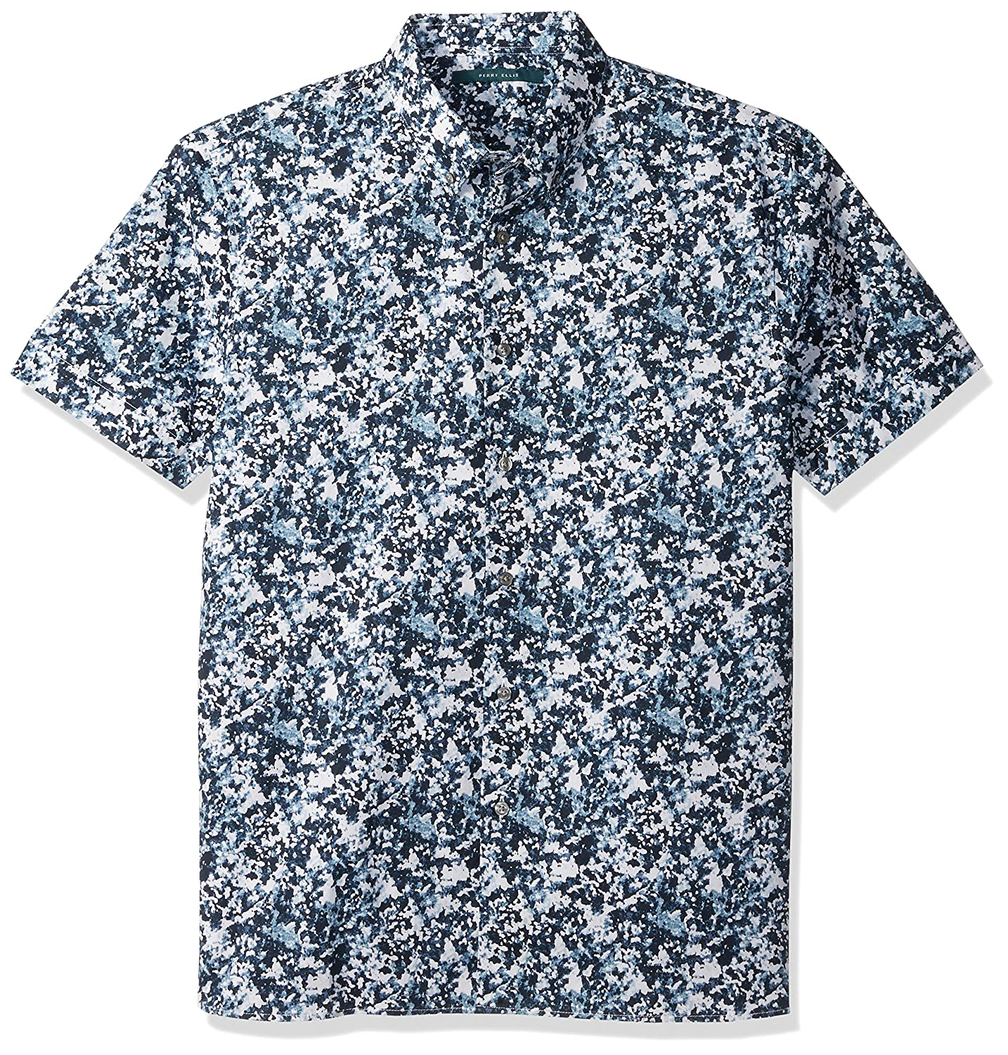 Perry Ellis Mens Short Sleeve Abstract Floral Print/ Shirt
