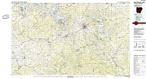Amazon.com : Bull Shoals Lake AR topo map, 1:100000 scale, 30 X 60 ...