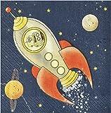 Ginger Ray fusée et robot papier serviette enfants fêtes - espace aventure