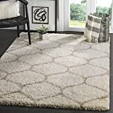 Safavieh Hudson Shag Collection SGH280D Ivory and Beige Area Rug, 9' x 12'