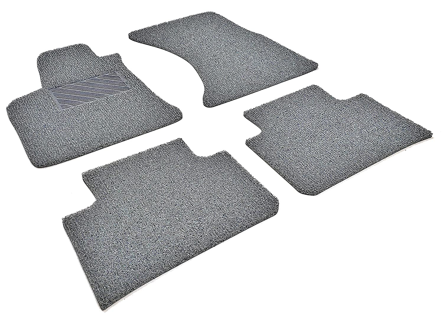All Weather Protector 4 Pieces Set Autotech Zone Custom Fit Heavy Duty Custom Fit Car Floor Mat for 2011-2019 Jeep Grand Cherokee SUV Grey and Black