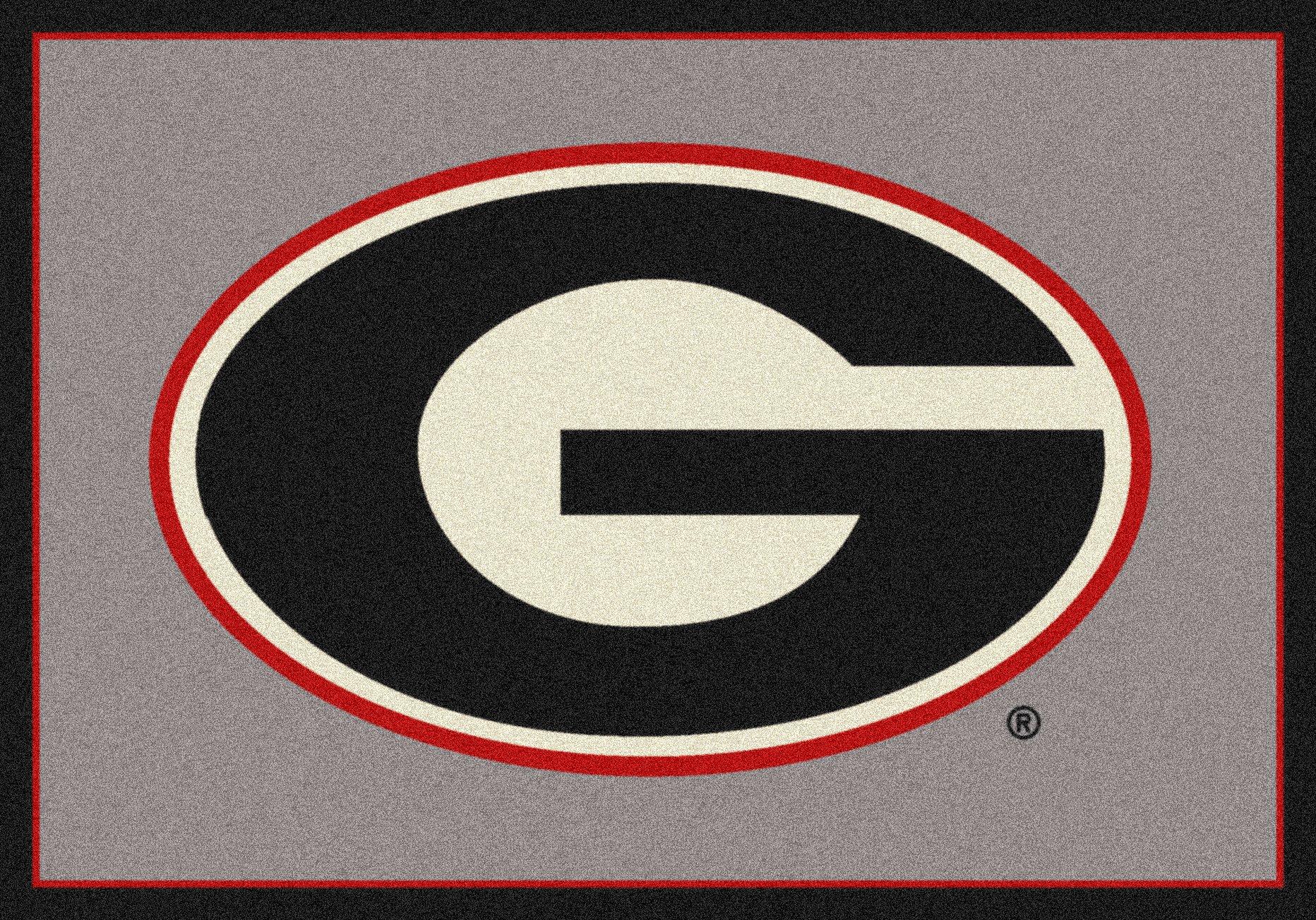 Georgia Bulldogs NCAA College Team Spirit Team Area Rug 3'10''x5'4''