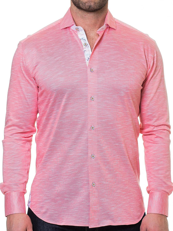 Maceoo Mens Designer Dress Shirt Stylish Trendy Wall Street