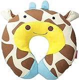 Skip Hop Zoo Little Kid and Toddler Travel Neck Rest, Soft Plush Velour, Multi Jules Giraffe