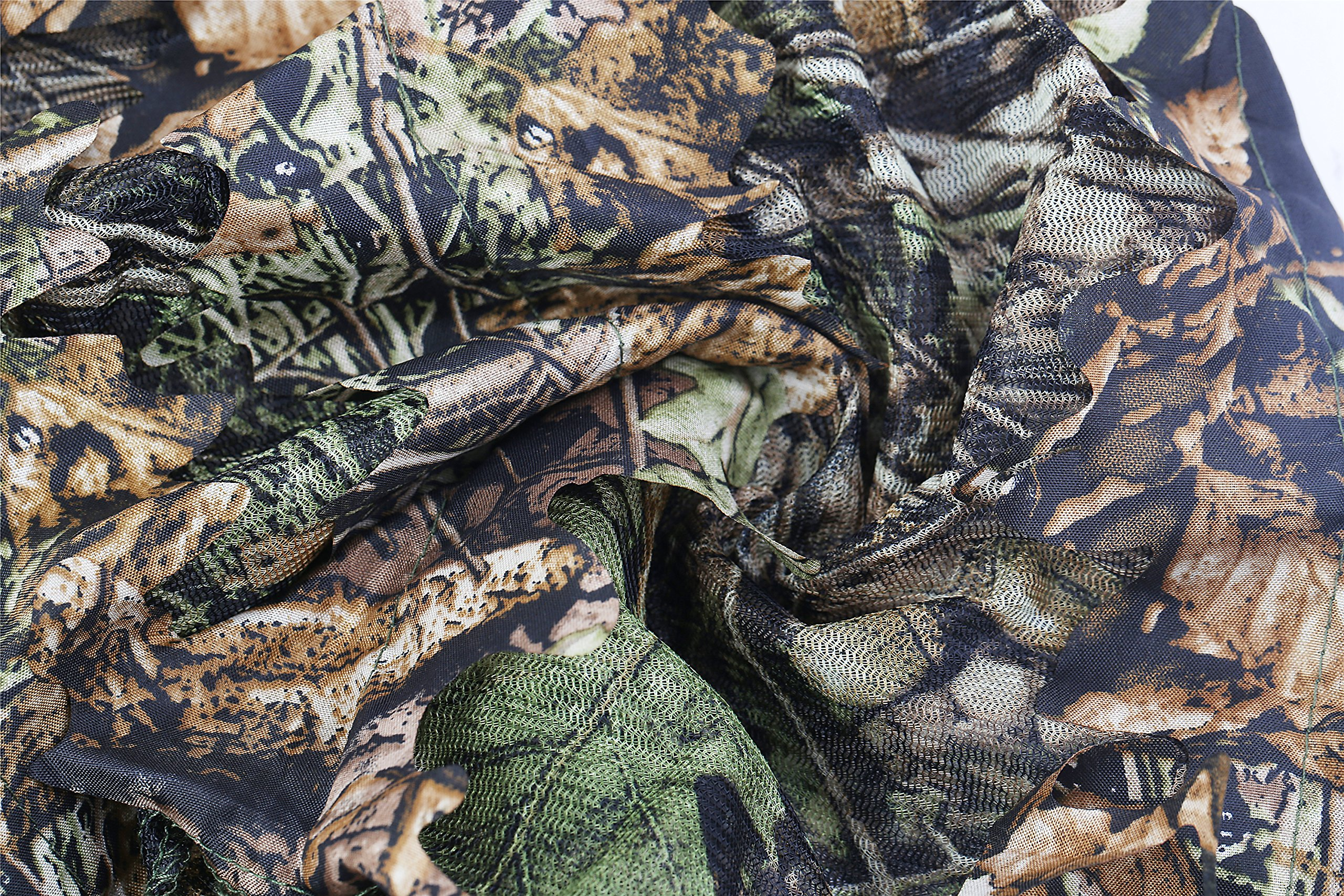 ABCAMO Light Weight Hunting Camouflage Full Cover 3D Leafy Face Mask by ABCAMO (Image #6)