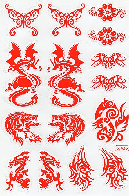 by soljo Flammes feu Rose Sticker Tuning Racing Motocross Autocollant Feuille 27 x 18 cm