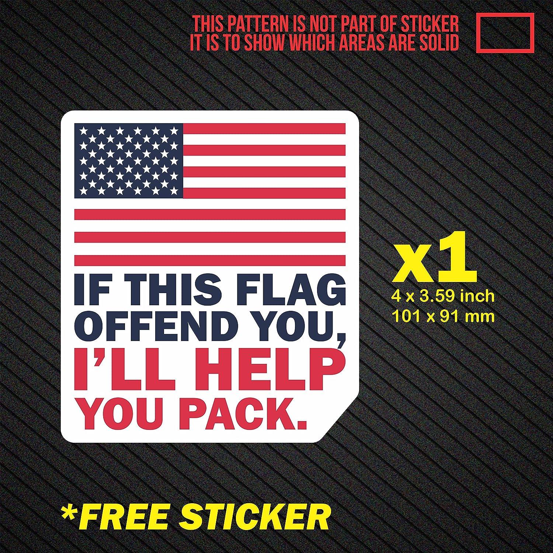 2x United States Flag Vinyl Bumper Sticker american US mirror 3.16 x 6 Inches