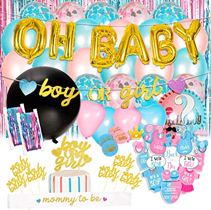 20 INCH Metallic Foil Star Shaped baby shower gender reveal powder Light Blue Star Balloon